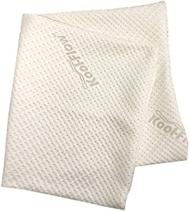 Snuggle-Pedic Zipper Removable Pillow Cover Kool-Flow Luxurious Bamboo Material - All USA Made (King Size)