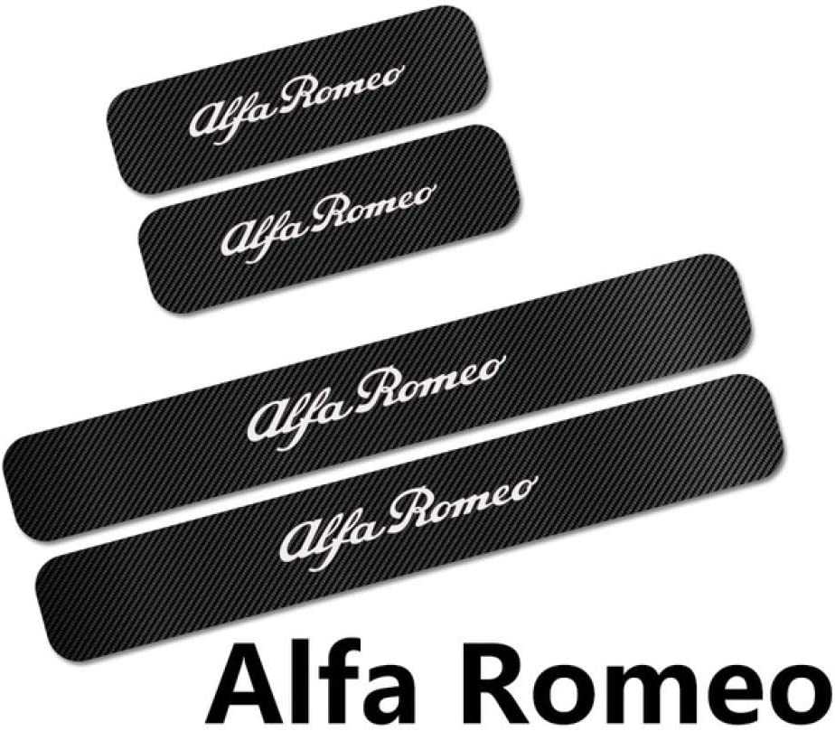 F/ür Alfa Romeo Giulia Giulietta 159 156 MITO Stelvio 147 Sport SLONGK 4 ST/ÜCKE Autot/ürschwellenverschlei/ßplatte Aufkleber Auto Tuning Zubeh/ör