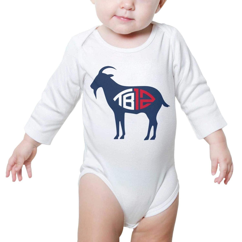 Boy//Girls Romper Bodysuit for Newborn Baby Onesies Brady 12 Player Long Sleeve Romper Jumpsuit