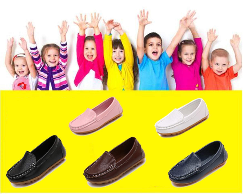 Sakuracan Boys Girls Leather Loafers Slip-on Boat Dress-Shoes (Toddler/Little Kid) by Sakuracan (Image #7)