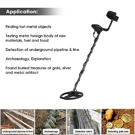 QUARK Pantalla LCD portátil Profundidad Detector de Metales Underground Gold Hunter Finder Alta sensibilidad: Amazon.es: Hogar