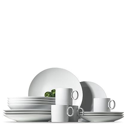 Rosenthal Thomas Loft White Dinnerware Set / Modern Dishes including Dinner Plates Salad Plates  sc 1 st  Amazon.com & Amazon.com | Rosenthal Thomas Loft White Dinnerware Set / Modern ...