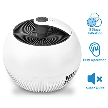 Air Purifiers – 3-in-1 True HEAP Air Purifier with 3 Filtration Systems, Quiet Operation, 3 Modes, Portable Air Cleaner for Home Office, Reduce Dust Particles, Pet Dander, Pollen,Odor Eliminator