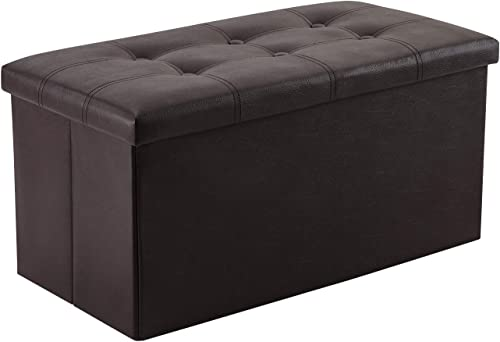 YOUDENOVA 30 inches Folding Storage Ottoman
