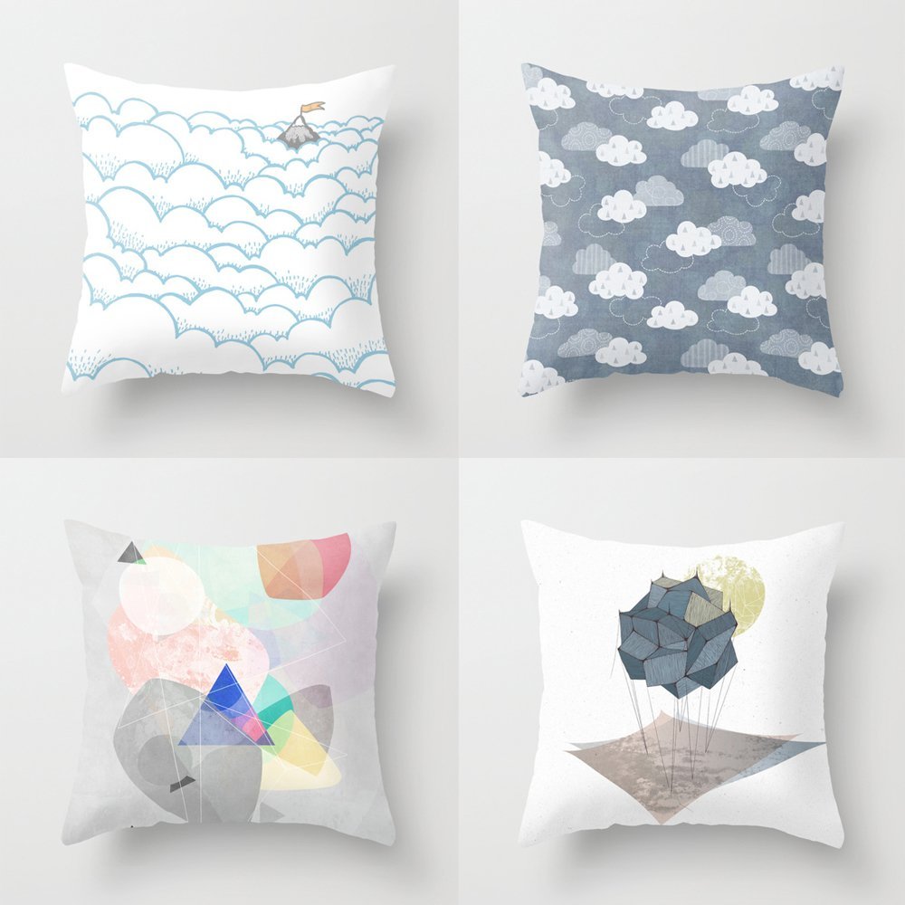 4 Pack Throw Pillow Covers for Teen Girls Microfiber Decorative Kids Bed Sofa 18 x 18 Inch
