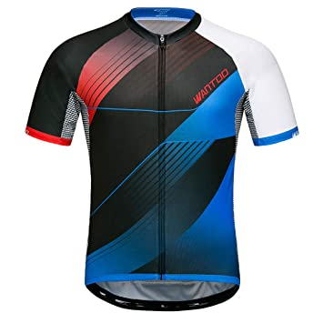 Wantdo Men s Cycling Jersey Breathable Quick Dry Biking Tops High Elastic  Anti Wrinkle Breathable Reflective Short 16fd10842