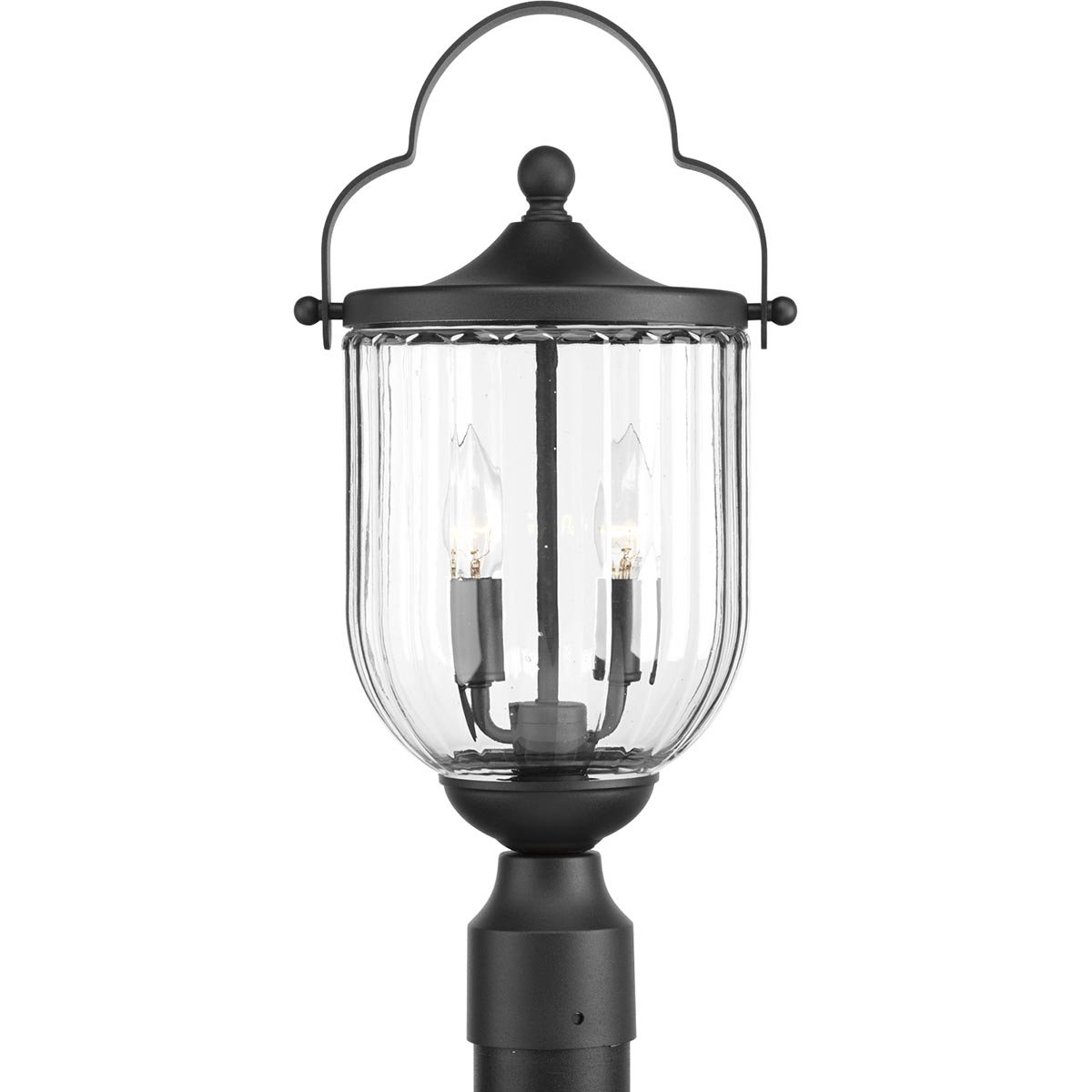 Progress Lighting P540023-031 Mcpherson Post Lantern, Black