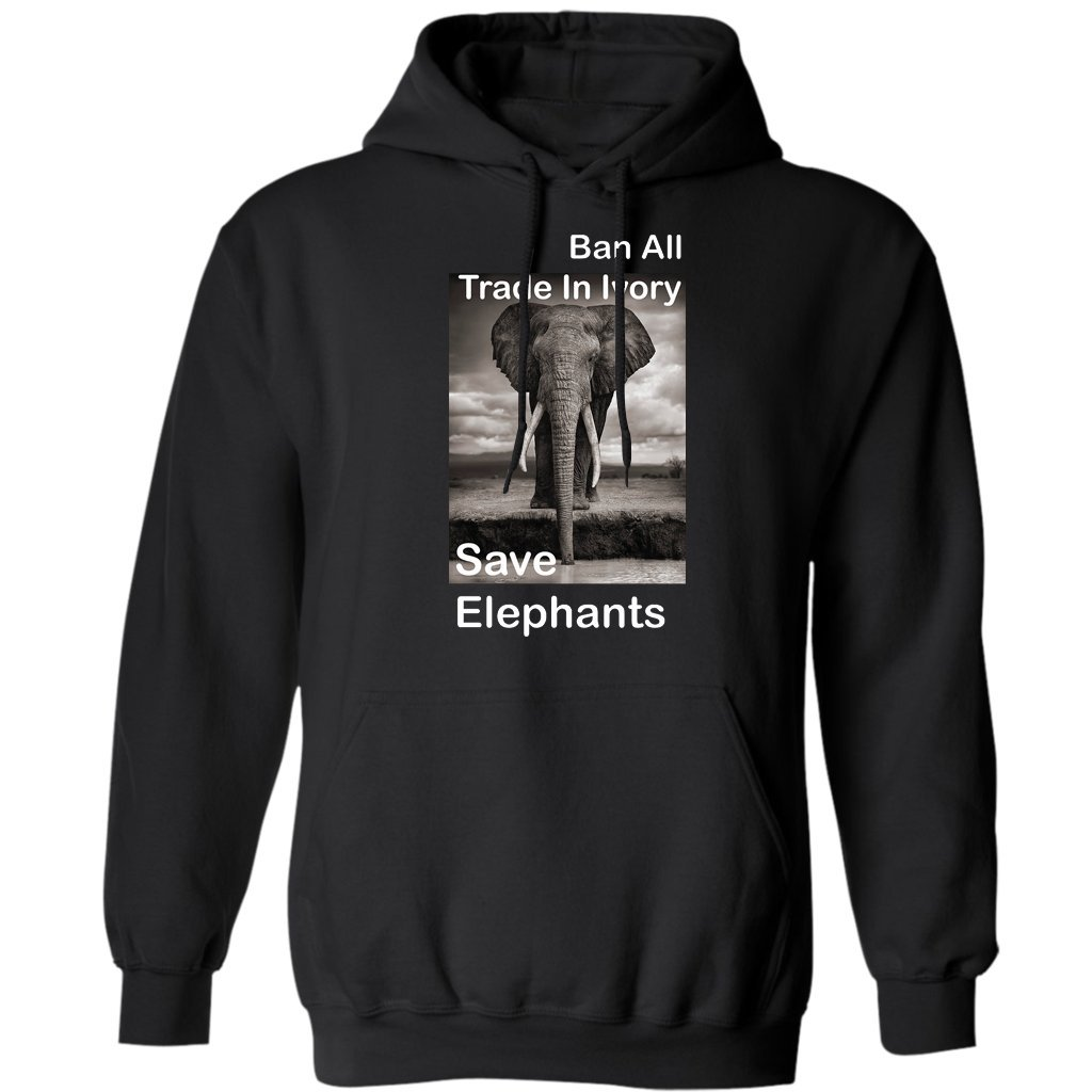Hoodie Ban All Trade in Ivory Save Elephants Gift Hoodies