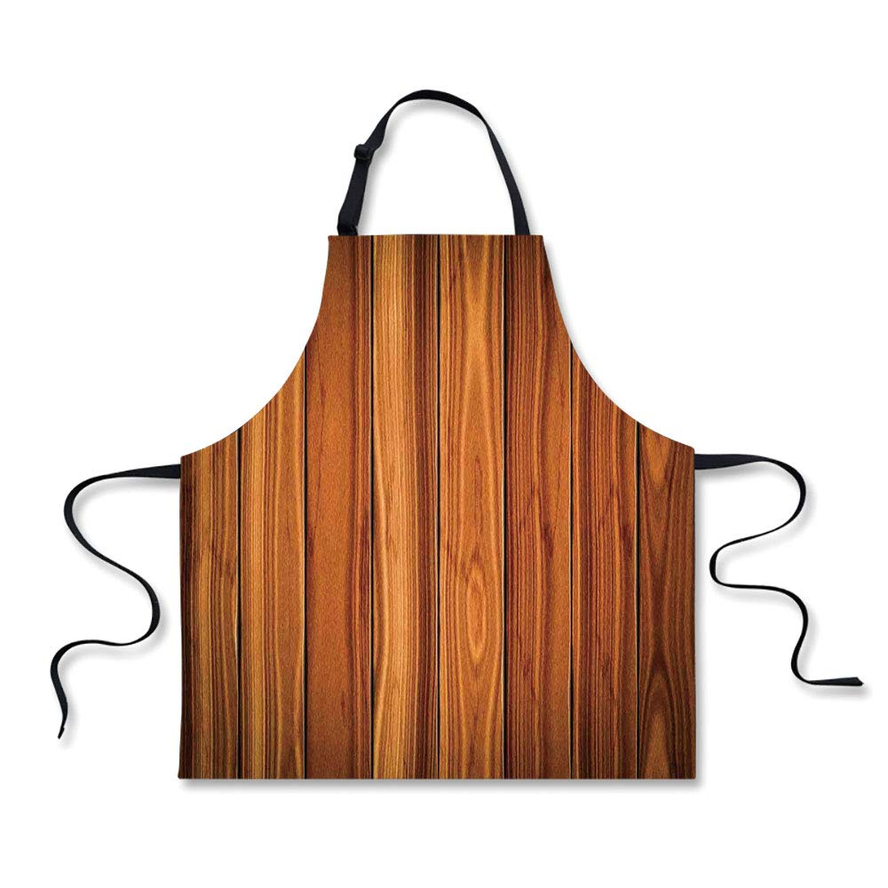iPrint BBQ Apron,Rustic Home Decor,Tall Decorative Bound Wood Line Timber Trunk Red Maple Stem Birch Branch Image,Brown, Apron.29.5''x26.3''