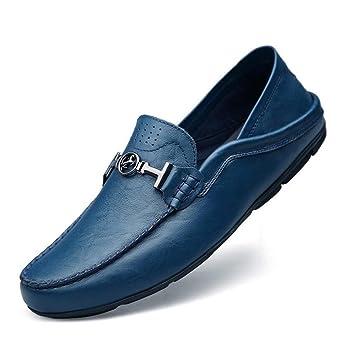 Sandalias y chanclas CJC Calzado Calzado de Hombres Mocasines de Cuero Ocasionales Negocio Conducción Plana Uniforme