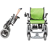 """The lightest & Most Compact Powered Wheelchair in The World - Ultra Portable Folding Power Wheelchair - Weights Only 35 lbs(Including 10A Lithium Battery) - 18"""" Seat Width"""