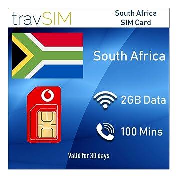 travSIM - Tarjeta SIM prepagada de Vodacom para Sudáfrica con 2 GB ...