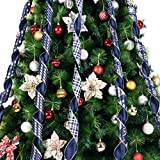 "iPEGTOP Christmas Ribbon, 36 Yards 2.5"" Wired"