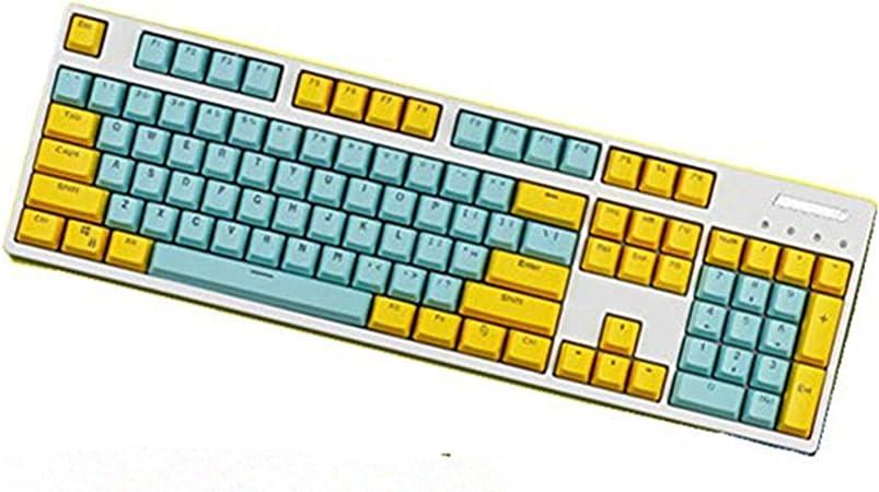 KEEZSHOP Keycaps, 104/87 PBT Doble Tecla Color Keycap Teclado ...