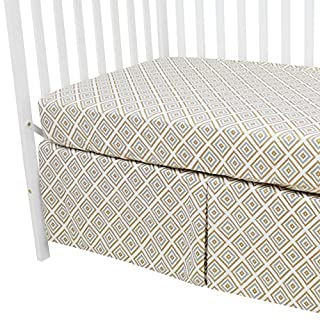 American Baby Company 100% Cotton Percale Fitted Crib Sheet and Skirt, Gold/Gray Kilim, for Boys and Girls
