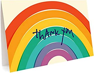 product image for Night Owl Paper Goods Big Rainbow Folded Thank You Cards, Box Of 6