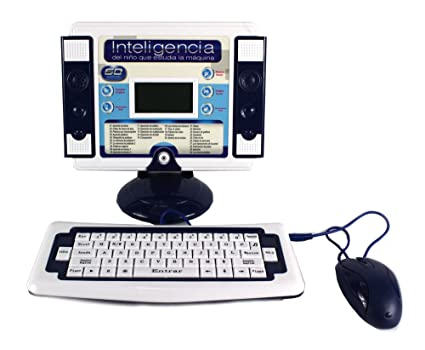 Ultimate estudio máquina de juguete educativo bilingüe Juego de ordenador de escritorio para niños,