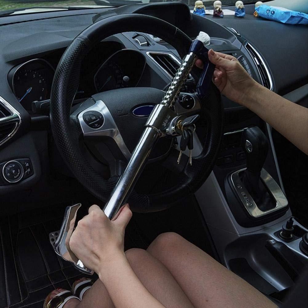 PROKTH Cerradura confiable del Volante del Coche Cerradura antirrobo del Embrague Cerradura Retractable del Freno para la Seguridad del Coche