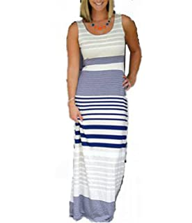 HANBINGPO Summer New Arrival Hot Selling Backless Dresses Sleeveless Long Tank Women Maxi Dress Vestidos