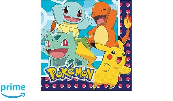 Pokémon: 16 servilletas de Papel para cumpleaños Infantiles ...
