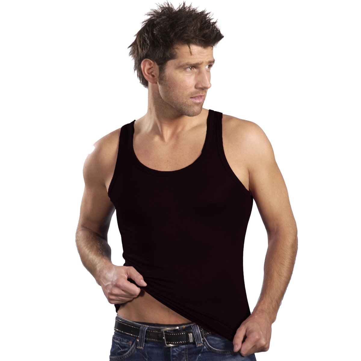 muscle shirt made of 100/% EU cotton many colours HERMKO 3000-4 mens tank top made in EU