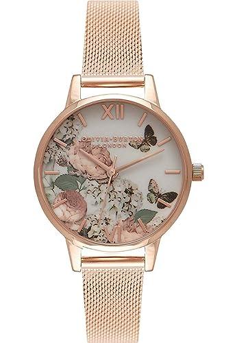 Olivia Burton Reloj Analógico para Mujer de Cuarzo con Correa en Acero Inoxidable OB16FS91: Amazon.es: Relojes