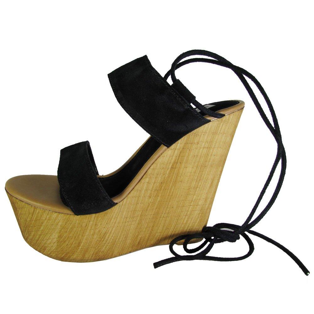 Steve Madden Womens Beachbar Platform Wedge Sandal Shoe B01FKX0WCW 11 B(M) US|Black Suede