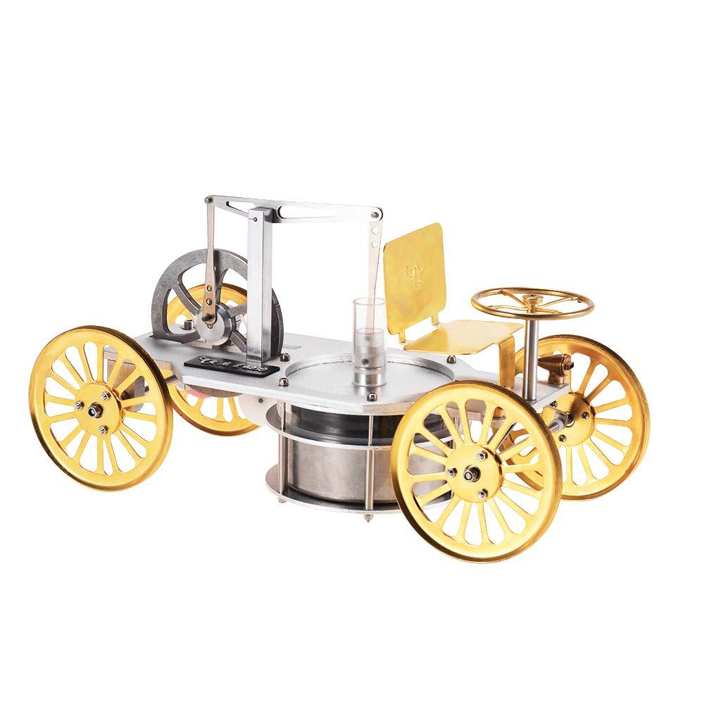 Aibecy スターリングエンジンモデル 低温 金属 カーキット 前進&後退&回す 蒸気 熱科学 実験物理教育玩具   B07T5Y8C2K