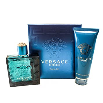 2442a6f94 Versace Eros pour Les Homme Coffret - 100 ml Eau de Toilette Vaporisateur + 100  ml