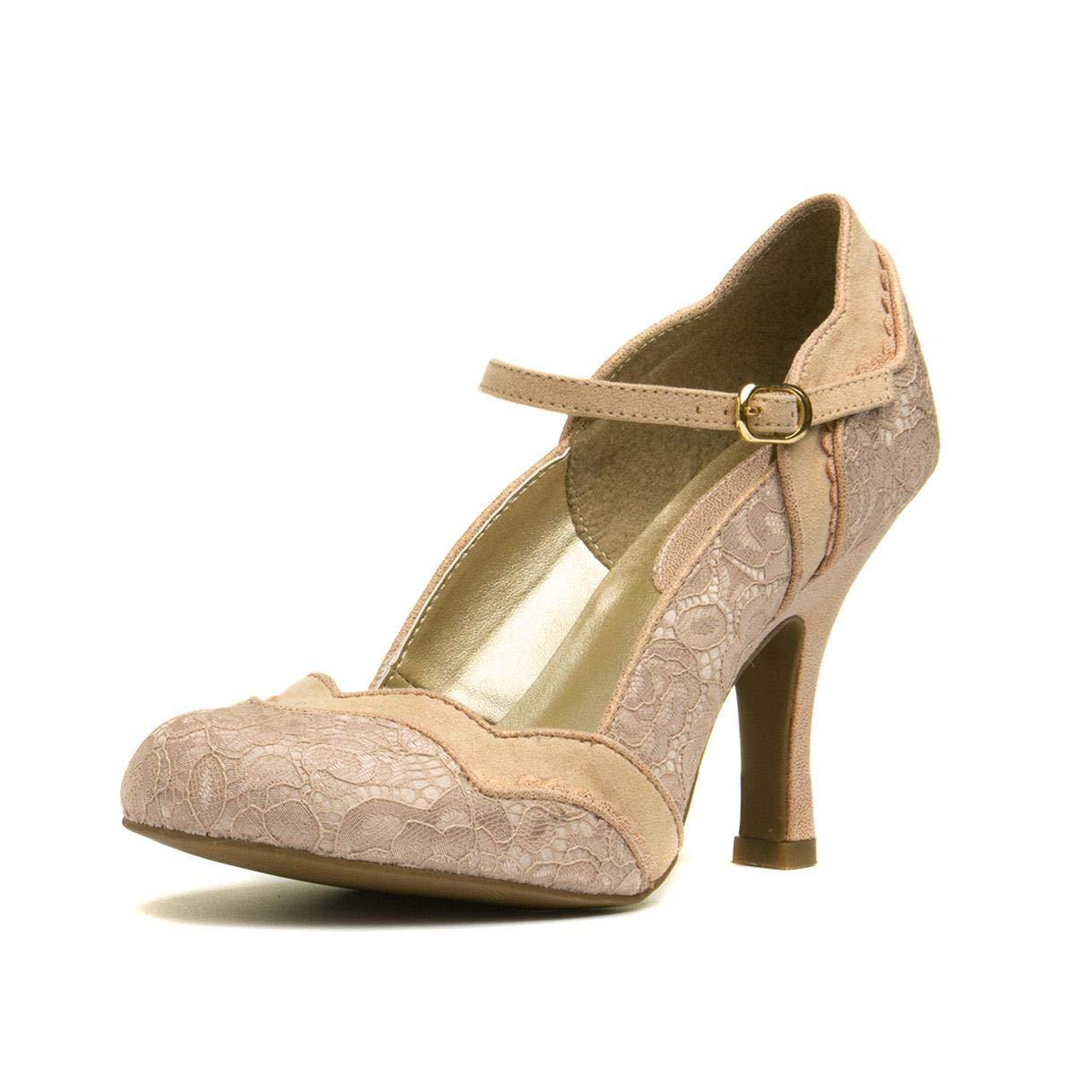 Ruby Shoo Imogen Mary Jane Shoes UK 3-9  Blue Plum Black Lace