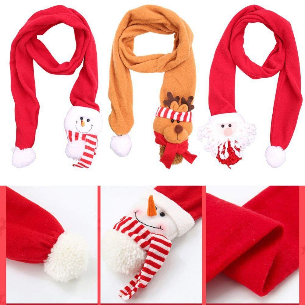 MiyaSudy Kids Baby Scarf Boys Girls Christmas Cartoon Winter Warmer Scarf Kids Thick Cotton Collar Scarves Neckerchiefs