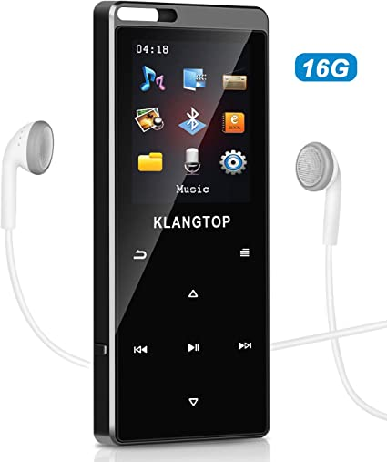 AGPtEK MP3 Music Player HIFI Lossless 16GB Support 70 Hours Playback/&128GB,Black