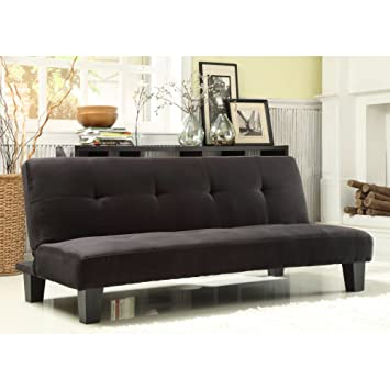 Amazoncom Chelsea Lane Tufted Mini Sofa Bed Lounger Kitchen