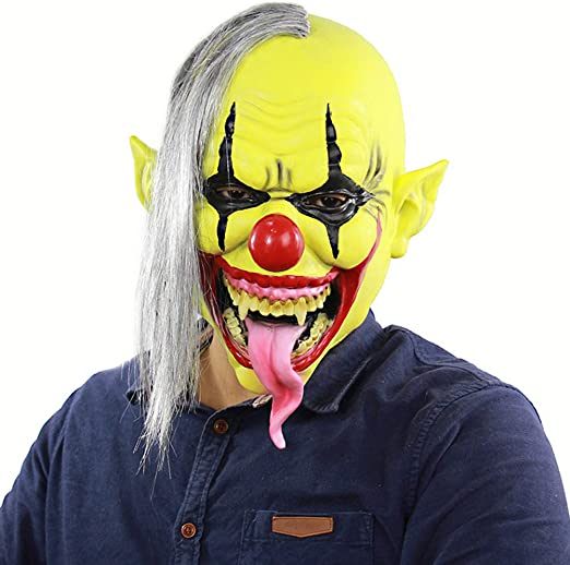 Máscara De Halloween, Horrible Máscara De Látex De Payaso Mago ...