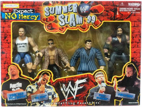 WWE WWF Summer Slam '99 Expect No Mercy - The Rock, Stone Cold Steve Austin, Vince McMahon and Undertaker by WWF/WWE
