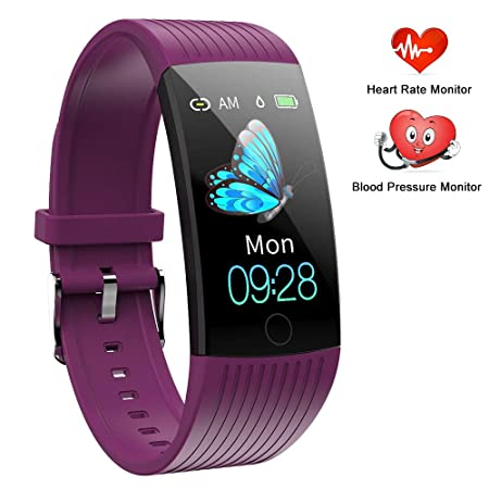 TEYO Fitness Tracker HR, Activity Tracker Watch with Heart Rate Monitor,1.14 Inch Color Screen Pedometer Watch Blood Pressure Monitor Sleep Monitor Fitness Watch, Calories Tracker,IP67 Waterproof