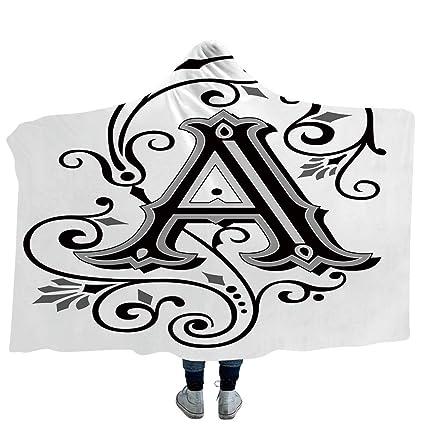 Amazon Com Ismyprint Wearable Blanket Letter K Blanket For