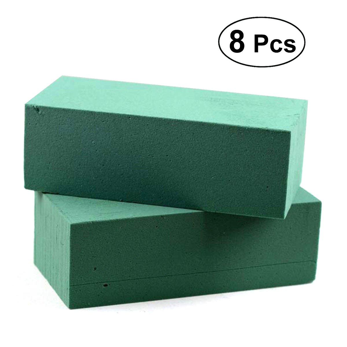 Ultnice floreale spugna mattoni blocchi verde di polistirolo per imballaggio piante artificiali 8PCS