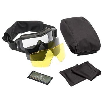 ccdcd7136f93 Revision Brille Asian Locust Deluxe schwarz gelbes Glas  Amazon.de ...