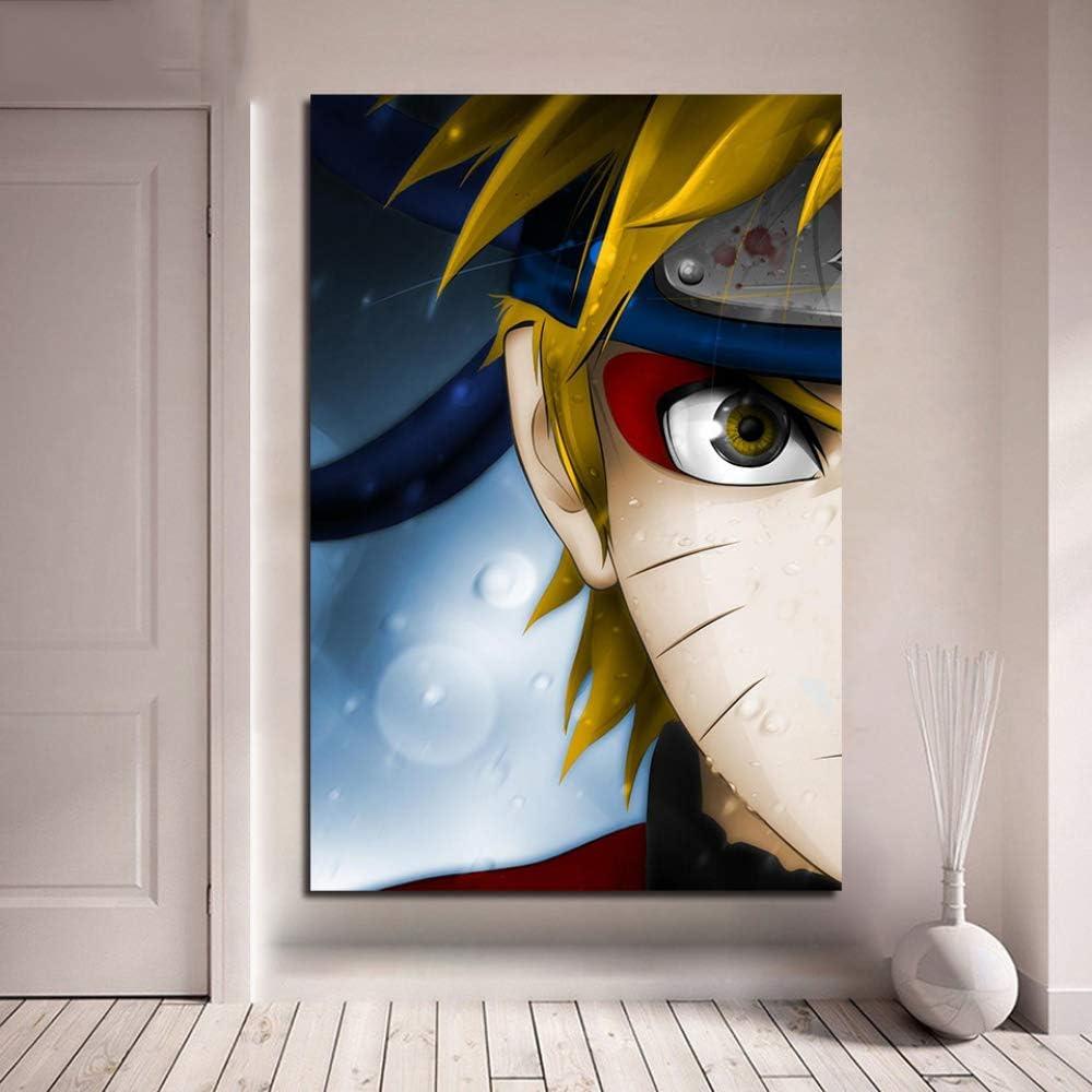 WGWNYN Wandk/ünstler Home Decoration Modular Bild 1 Panel Naruto Fairy Mod Poster Leinwand Malerei Abstraktes Schlafzimmer 60x85cm