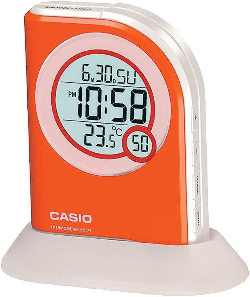 Despertador Casio con termómetro - PQ-75-4