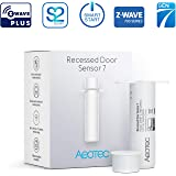 Aeotec Recessed Door Sensor 7, Z-Wave Plus, Invisible Security Door Sensor, Smart, Battery Powered, SmartStart & S2, Z-Wave hub Required