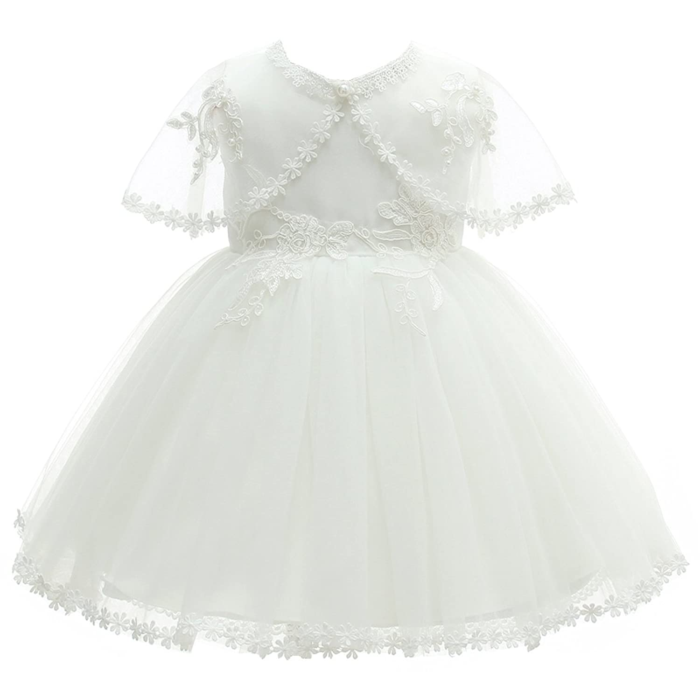fe88f2562b332 AHAHA Abiti da Battesimo per Bebè Bambina Principessa Abiti da Sposa Festa  di Compleanno Vestito per ...