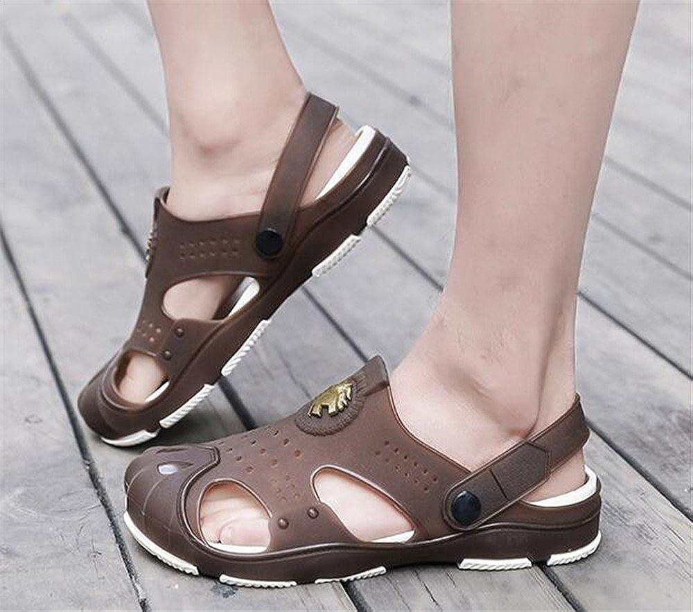 SUNNY Store Summer Fashion Mens flip Flops Beach Sandals for Men Flat Slippers Non-Slip Shoes