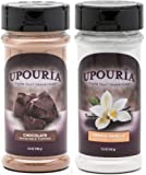 Upouria Coffee Topping Variety Pack - Chocolate and French Vanilla, 5.5 Ounce Shakeable Topping Jars - (Pack of 2)