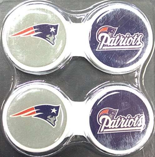 California Accessories New England Patriots 2 Pack Contact Lens Case