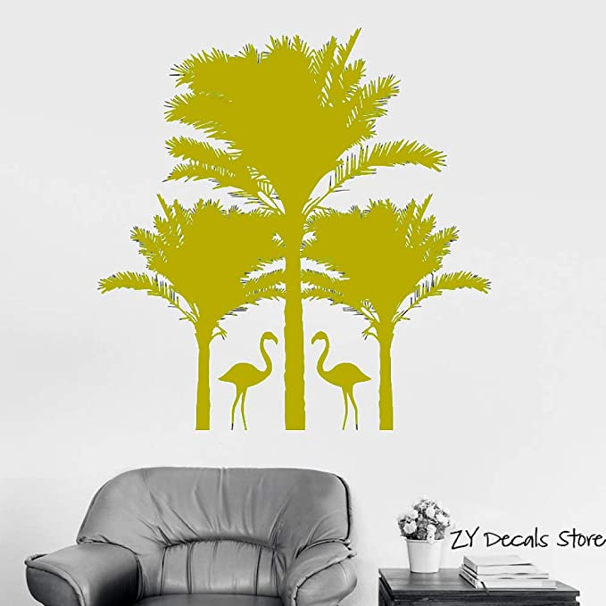 Palm Tree Wall Declas Swan Tatuajes de pared Sala de estar ...