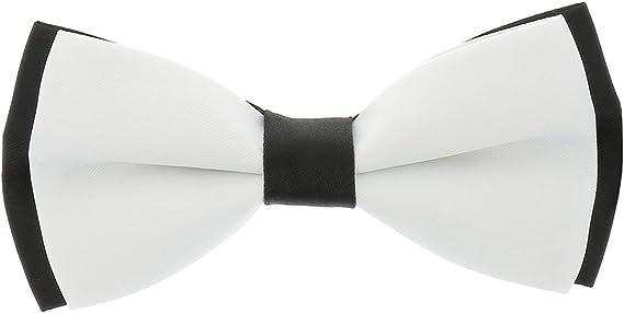 cravateSlim Noeud Papillon Blanc Double