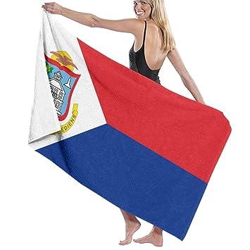 LOVE TTL - Toalla de baño para niña, diseño de la Bandera de San Martín Holandesa, 100% poliéster, Blanco, Talla única: Amazon.es: Hogar