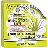 J.R. Watkins Hand and Cuticle Salve Aloe and Green Tea - Soothes and Protects Dry Rough Skin - 2.1 oz (Pack of 2)